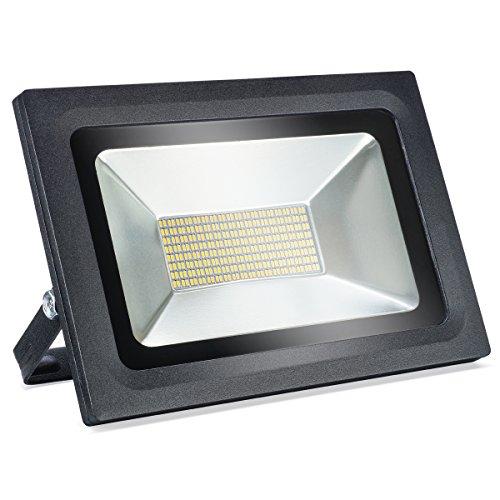 60W LED Flood Light - Outdoor Lighting Wall Light, 5000lm, Warm White (3000-3500K), IP65 Waterproof, Super Bright Led Floodlight Street Light Garden Light Spotlight Security Lights