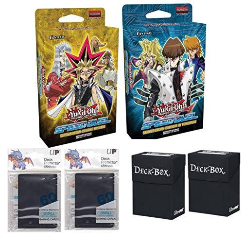 Yugioh Speed Duel Dueling Starter Decks - Destiny Masters & Duelists of Tomorrow W/Card Holders & Card Protectors