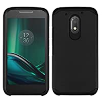 Asmyna Cell Phone Case for Motorola Moto E3 - Black/Black