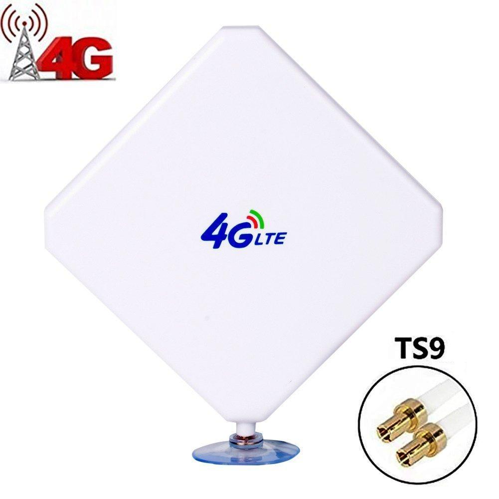TS9 4G LTE Antenna, Aigital 35DBI High Gain MIMO 4G/WiFi Signal Reception Booster Amplifier Long Range Extender for WiFi Router Mobile Broadband HUAWEI E5375 MF920 E5186 E5172 B593s-22 B593u-91(TS9 Male Connectors)