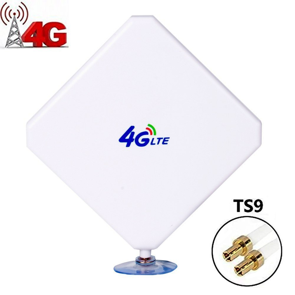 4G LTE Antenna TS9 Male Connector 35dbi High Gain Network Antenne Cell Phone Booster Amplifier Omni Directional Antenna Adapter with Suction Cup for WiFi Router Mobile Broadband Hotspot Signal Booster by Aigital