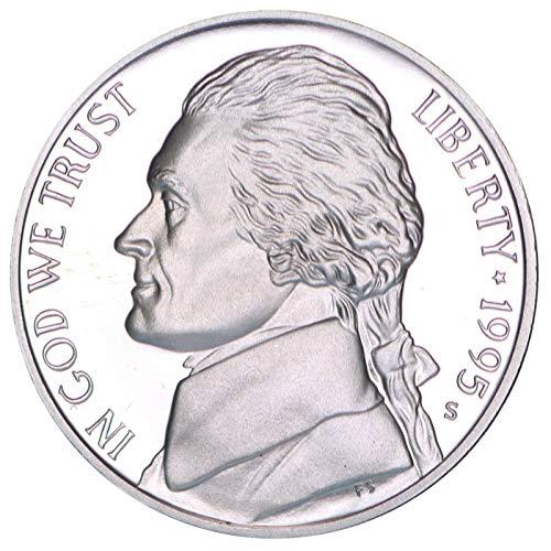 1995 S Jefferson Nickel Gem Deep Cameo Proof