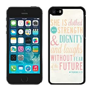 Bible Proverbs 31 25 She Is Clothed with Strength and Dignity Iphone 6 4.7'' Case Black Cover