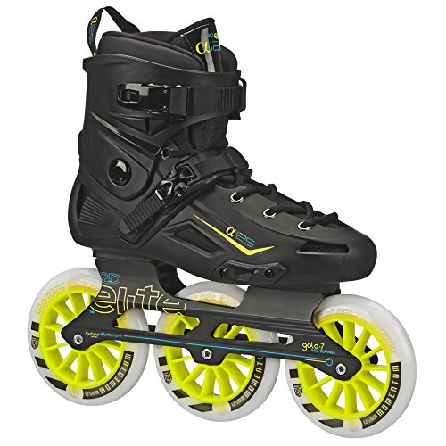 Roller Derby Elite Alpha 125mm 3-Wheel Inline Skate, 12 ()