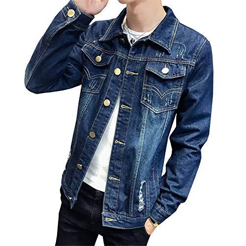 Larga Ocio De Outwear Blau Hombres Chaqueta Adolescentes De Mezclilla Elegante Chaqueta Botones De 4 De De Manga Mezclilla Mezclilla Los Chaqueta con Estilo De Ligera De Chaqueta Los Chaqueta De a4PR4f
