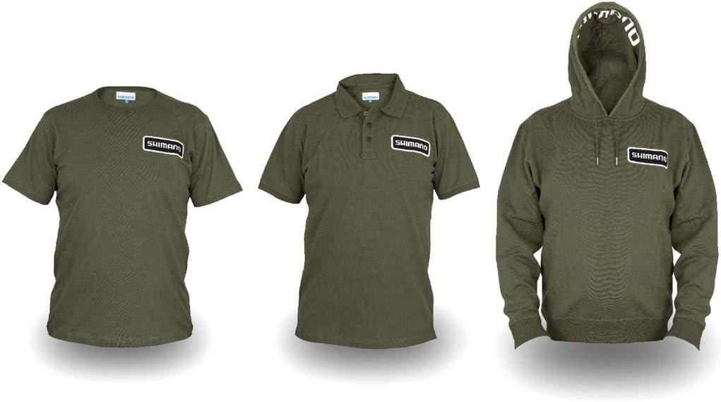 Shimano Clothing Pack Bundle - Caña de pescar L Olive Hoody + Polo ...