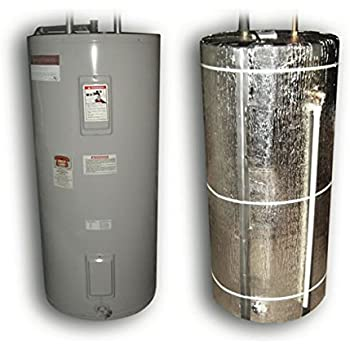 US Energy Products Heavy Duty Reflective Foam Core Non Fiberglass (Fits 40, 50, 60, 80) Gallon Water Heater Tank Insulation Wrap ...