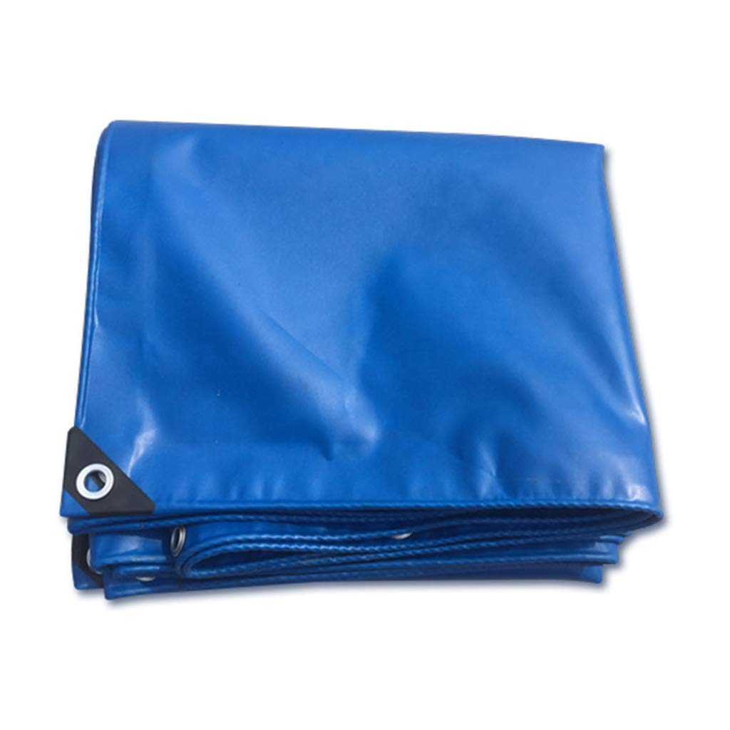 Home warehouse Blauer Poncho, Outdoor-Camping-Zeltstoff doppelseitige Wasserdichte Plane Sonnenschutzschirm verdicken Regendichtstoff Schuppentuch Mehrzweck Mehrere Größen Plane