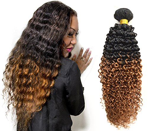 Babe Hair Brazilian Kinky Curly Weft 100% Human Hair Extension 7A Virgin Hair Ombre Bundles Natural Afro Tight Jerry Curls 10