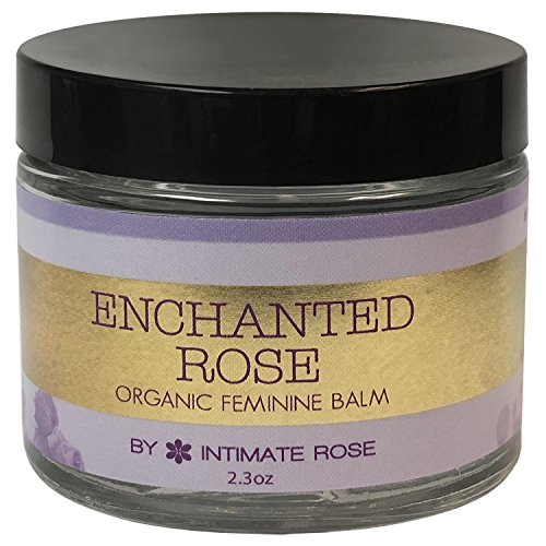 Vaginal Balm & Organic Personal Lubricant for Women: Natural Vulva Cream for Dryness - Enchanted Rose is Perfect for Menopause & Shaving Rash Relief - Non Estrogen Cream and Intimate Skin Moisturizer