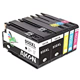 Aken Replacement for HP 950XL 951XL Ink Cartridges Compatible With HP OfficeJet PRO 8600 8610 8620 8630 8100 8640 8660 8615 8625 251dw 271dw 1Set-