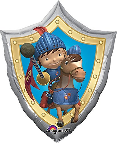 LuftBalloons 22 Inch Mike the Knight Shield Balloon ()