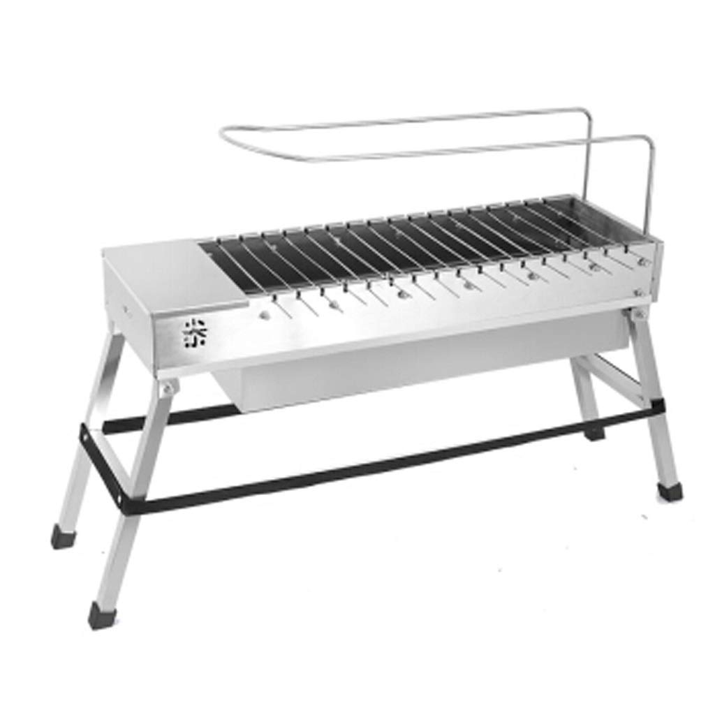 MEI XU Barbecue Grill BBQ Grill - Folding Grill Automatic Rotating Charcoal Outdoor Household Grill Electric Flip Stainless Steel Grilling Machine