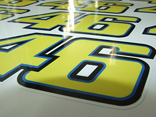 Rdtrade24 Valention Rossi 46 18x72cm 2pcs Valentino Rossi