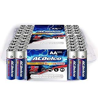 ACDelco 100-Count AA Batteries, Maximum Power Super Alkaline Battery
