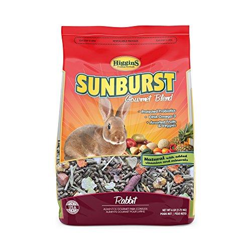 Higgins Sunburst Gourmet Rabbit Food Mix, 6 Lbs., (Gourmet Rabbit Food)