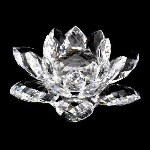 JKK SALE Sparkle Crystal Lotus Flower (Clear)