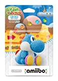 Light Blue Yarn Yoshi Amiibo (Yoshis Woolly World Series)
