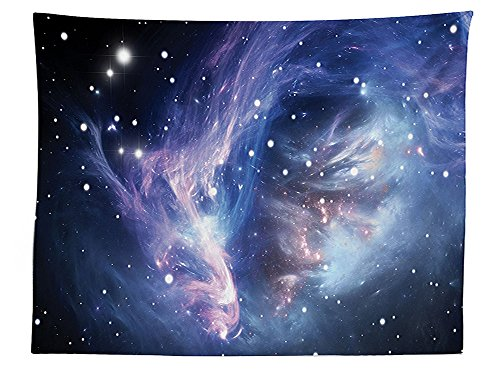 vipsung Space Decorations Tablecloth Mysterious Nebula Gas Cloud in Deep Ouuter Space with Star Cluster Universe Solar Rectangular Table Cover for Dining Room Kitchen Navy (30h Gray Nebula Tables)