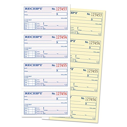 Adams SC1152 Money/Rent Receipt Book, 2-Part, 11 x 5-1/4, 200 Sets/Book by Office 4 All (Image #1)