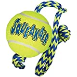 KONG SqueakAir Ball with Rope Dog Toy, Medium