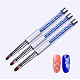 Multi Sets Of Gradient Painting Pen Carving Liner Paint Drawing Brushes Kit Rhinestone Handle Manicure Nail Art Tool Set 10