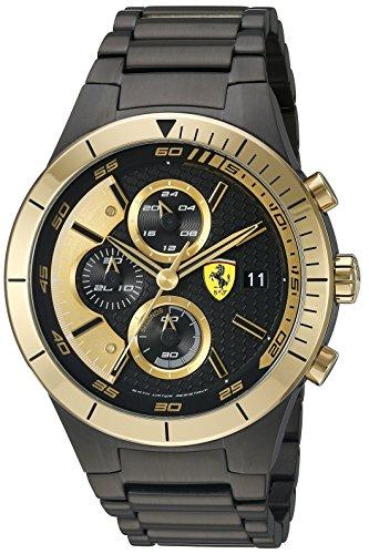 Ferrari Men's Quartz Black Casual Watch (Model: 0830303)