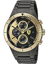 Ferrari Mens Quartz Black Casual Watch (Model: 0830303)