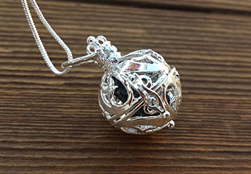[A&S Crystals] ROUND FILIGREE CAGE Pendant With Black Tourmaline Crystal Pendant