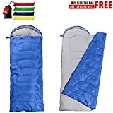 Swift-n-Snug Sleeping Bag - Big and Tall Cold Weather 100% Polyester Bag for Boys, Girls, Men, Women, Kids & Adults - Portable, Lightweight Sack for Camping, Hiking, Travelling, Backpacking