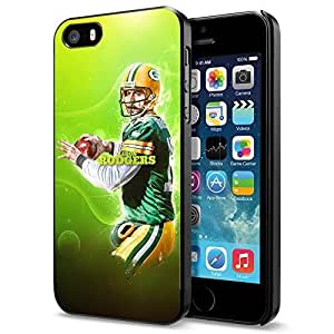 Zheng caseZheng caseNFL Green Bay Packers Aaron Rodgers, Cool iPhone 4/4s Smartphone Case Cover Collector iphone Black