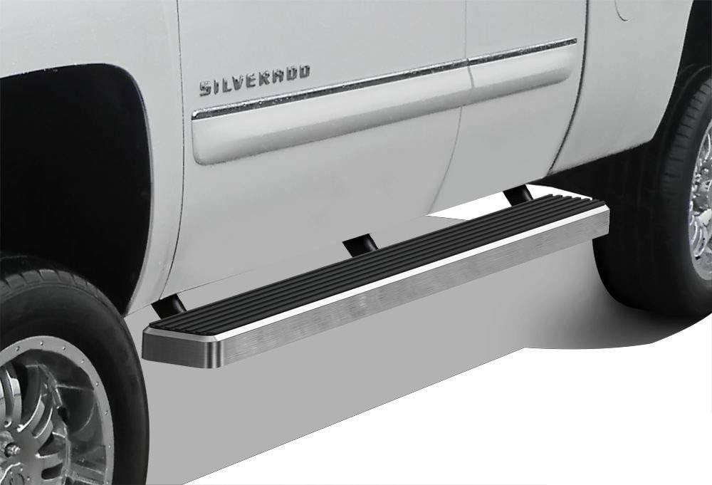 APS iArmor Aluminum Side Steps Armor Custom Fit 1999-2006 Chevy Silverado GMC Sierra 1500 2500 Extended Cab /& 01-06 2500 HD 3500 /& 07 Classic Nerf Bars Side Steps Side Bars