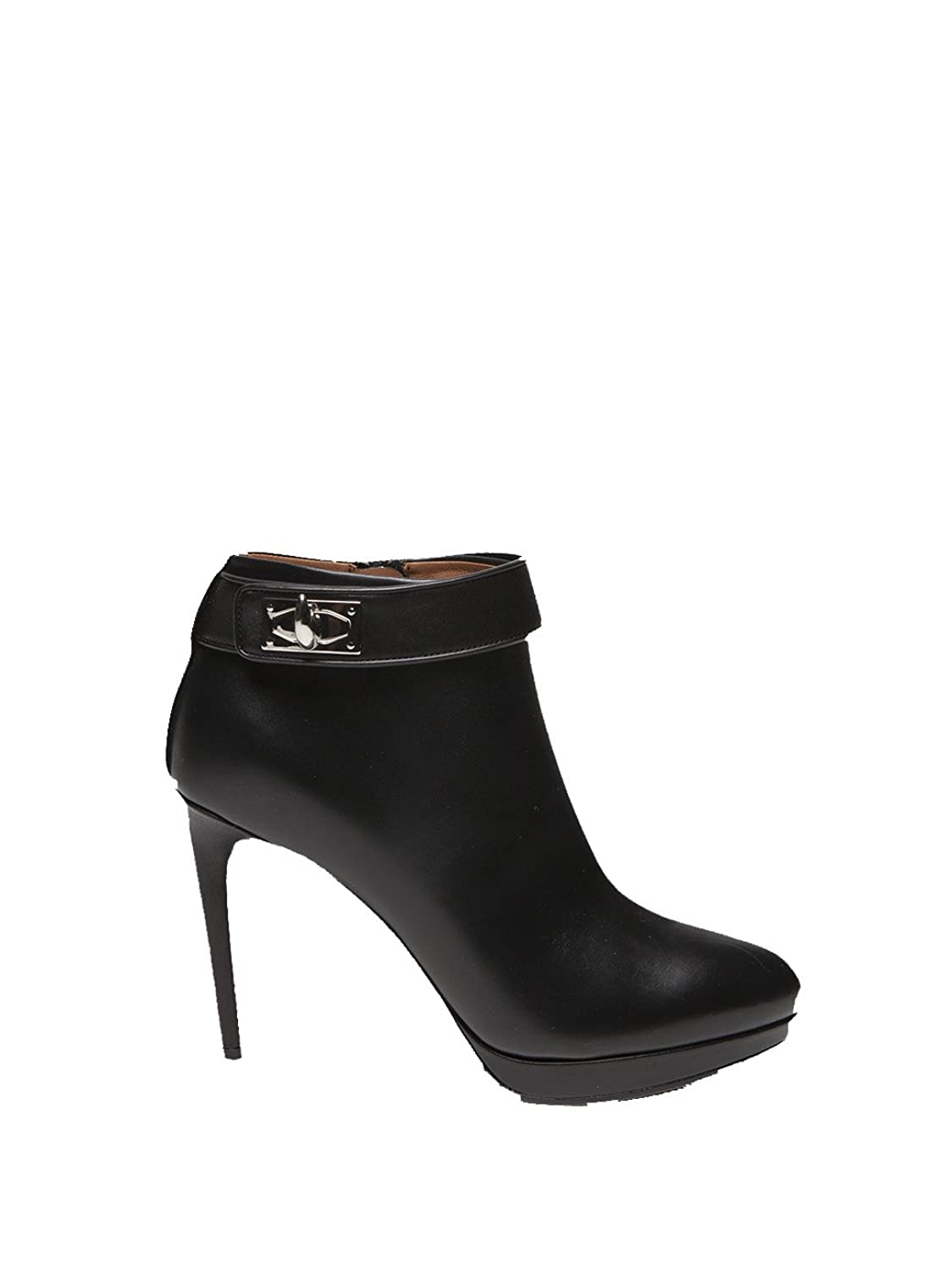 GIVENCHY WOMEN'S BE08820004001 BLACK LEATHER ANKLE BOOTS