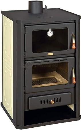 Estufa Combustion Madera 5+15 KW Cocina Trasera Caldera ...