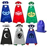 Kids Dress Up Costumes Cartoon Capes with Masks for Boys Girls 6-Pack