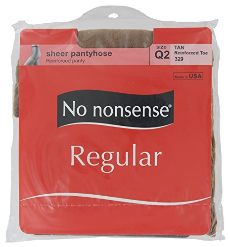 No Nonsense Women's Reinforced Toe Pantyhose, Tan, Plus (Reinforced Toe Pantyhose)