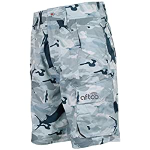 """AFTCO Tactical Fishing Shorts - Gray Camo - Size 30"""""""