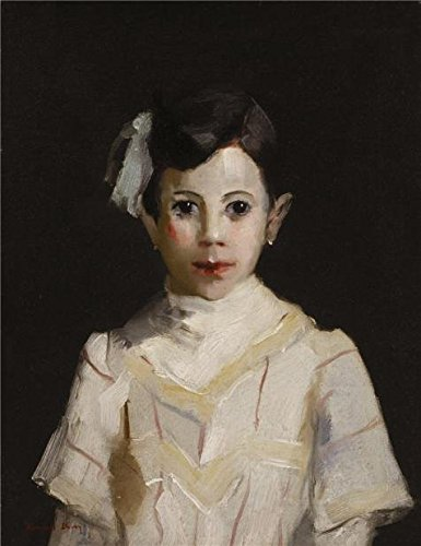 Oil Painting 'Randall Davey,Spanish Child In White,ca.1912' Printing On Perfect Effect Canvas , 30x39 Inch / 76x99 Cm ,the Best Study Decor And Home Artwork And Gifts Is This High Definition Art Decorative Prints On Canvas