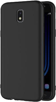 AICEK Funda Samsung Galaxy J5 2017, Negro Silicona Fundas ...