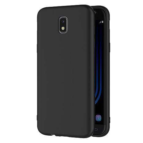 AICEK Funda Samsung Galaxy J5 2017, Negro Silicona Fundas para Samsung J5 2017 Carcasa Galaxy J5 2017 Negro Silicona Funda Case (5,2 Pulgadas ...