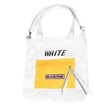 Amazon.com   Youyouchard Kpop BTS Bangtan Boys BLACKPINK Seventeen Canvas  Pencil Case Stationery Bag Pencil Box Coin Bag Shoulder Bag Handbag  Cosmetic ... 22c27db7a81f