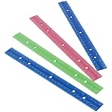 Lot Of 12 Assorted Color Metric And Inches Plastic Rulers by US Toy