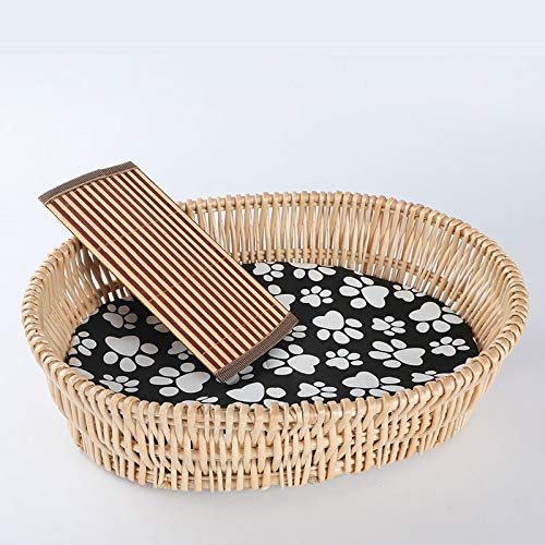 D XL 80x50cm D XL 80x50cm SHYPwM Wicker Pet Nest Cat Litter Environmentally Friendly Four Seasons Universal Removable Washable Mat Kennel Pet Supplies (color   D, Size   XL 80x50cm)