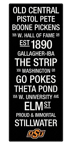 Oklahoma State Color Subway Art Canvas
