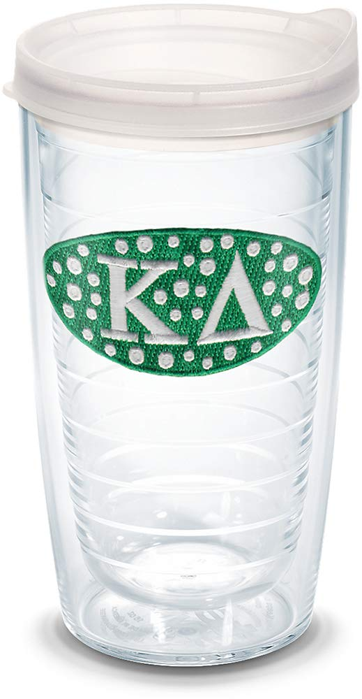 Tervis 1087806 Sorority - Kappa Delta Tumbler with Emblem and Frosted Lid 16oz, Clear