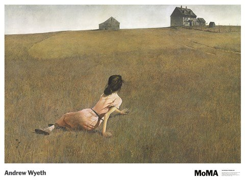Christina's World by Andrew Wyeth Barn Country Scene Realism Landscape Nature Print Poster 27x36 - Wyeth Contemporary Print