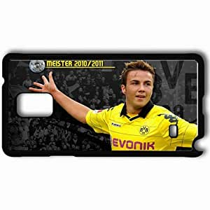Personalized Samsung Note 4 Cell phone Case/Cover Skin Abstact pictures of mario gotze Black by icecream design