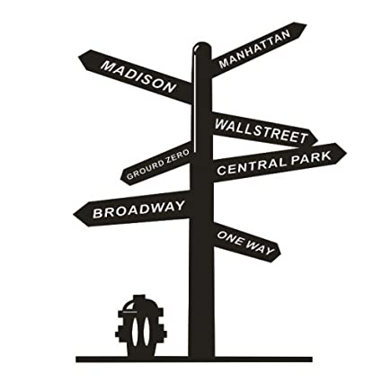 TYLPK New York Broadway Signpost Etiqueta de la pared City Street ...