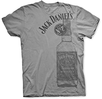 Jack Daniels Mens Daniels Tennessee Whiskey Bottle T-Shirt - 33261440Jd-79