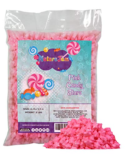 (Pink Hard Candy Stars 2 Pounds - For Gender Reveal Or Baby Showers-Star Shaped)